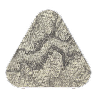 Topographical Map of The Yosemite Valley Speaker