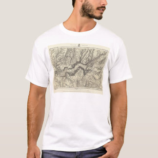 Topographical Map of The Yosemite Valley T-Shirt