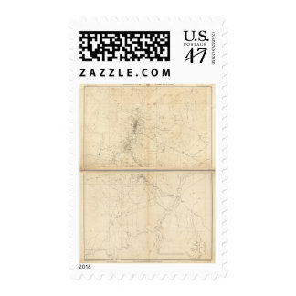 Topographical Map of Washoe Mining Region Postage