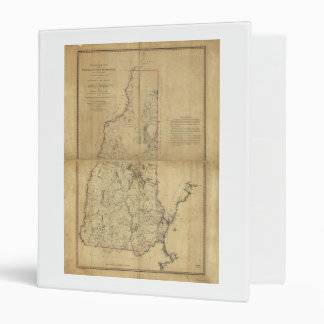 Topographical Map Province of New Hampshire (1784) Vinyl Binders