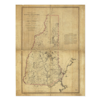 Topographical Map Province of New Hampshire (1784) Postcard