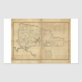 Topographical Map Province of New Hampshire (1784) Rectangular Sticker