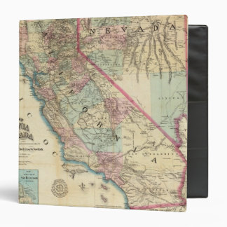 Topographical Railroad and County Map California 3 Ring Binders