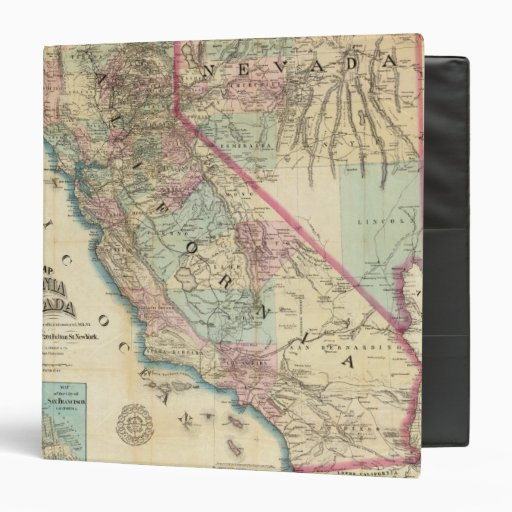 Topographical Railroad and County Map, California 3 Ring Binders