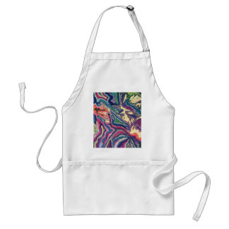 Topographical Tissue Paper Art I Adult Apron