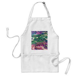 Topographical Tissue Paper Art II Adult Apron