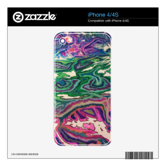 Topographical Tissue Paper Art II Decal For iPhone 4