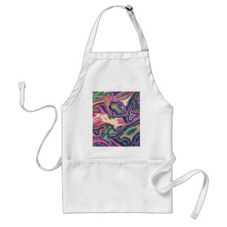 Topographical Tissue Paper Art III Adult Apron