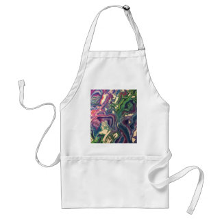 Topographical Tissue Paper Art IV Adult Apron