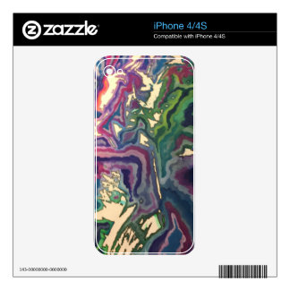 Topographical Tissue Paper Art IV Decals For iPhone 4