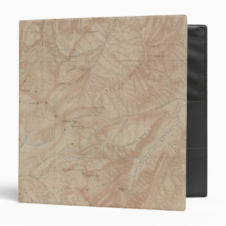 Topography Map, Yellowstone National Part, Wyoming Binder