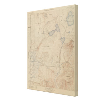 Topography Map, Yellowstone National Part, Wyoming Canvas Print