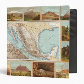 Topography of Mexico Vinyl Binders