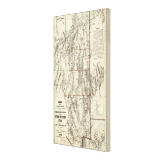 Topography of Southern Nevada Canvas Print