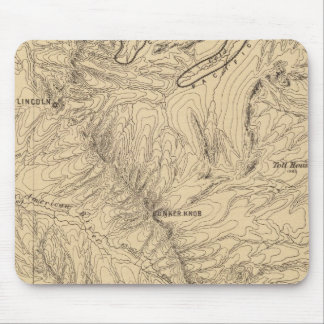 Topography TruckeeDonner Pass Region, California Mouse Pad