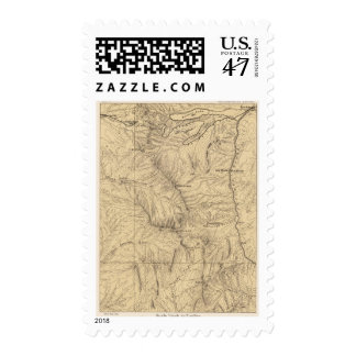 Topography TruckeeDonner Pass Region, California Postage