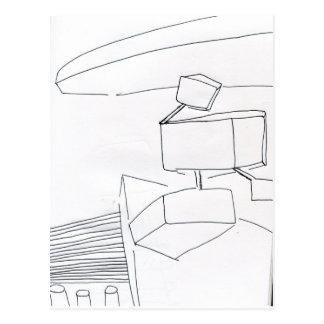 Topológico lógico en el extracto 3D Tarjetas Postales