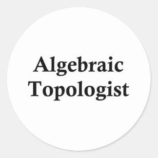 Topologist algebraico pegatina redonda