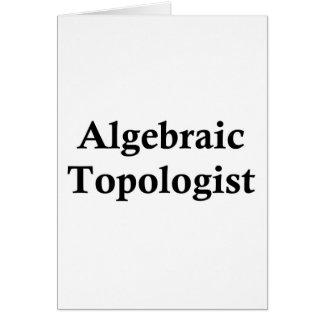 Topologist algebraico tarjeta de felicitación