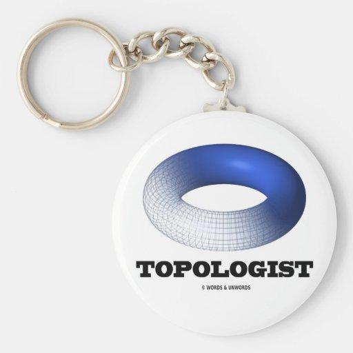 Topologist (toroide azul) llavero