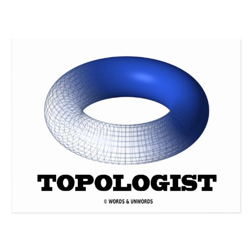 Topologist (toroide azul) postal
