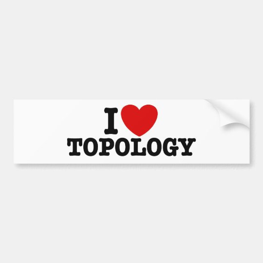 Topology Bumper Sticker