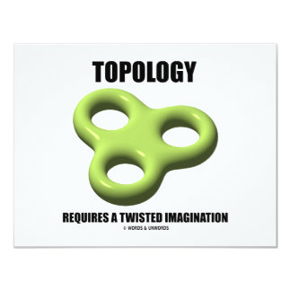 Topology Requires A Twisted Imagination (Toroid) Card