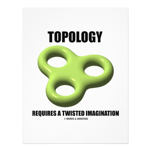 Topology Requires A Twisted Imagination (Toroid) Personalized Flyer