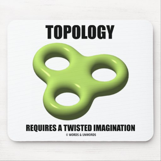 Topology Requires A Twisted Imagination (Toroid) Mousepad