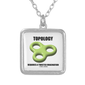 Topology Requires A Twisted Imagination Toroid Silver Plated Necklace