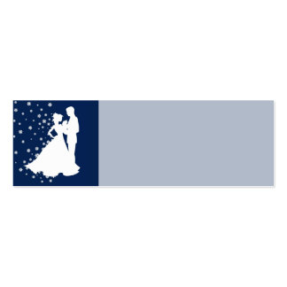 Topónimo del boda de los azules marinos de las sil tarjetas de visita