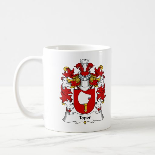 Topor Family Crest Classic White Coffee Mug