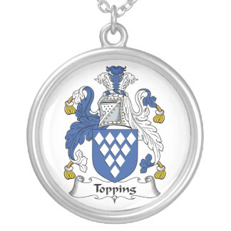 Topping Family Crest Round Pendant Necklace
