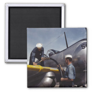 Topping Off The Tanks, 1942 2 Inch Square Magnet