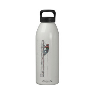 Topping out Arborist Tree Surgeon Stihl christmas Reusable Water Bottle