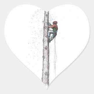 Topping out Arborist Tree Surgeon Stihl Heart Sticker