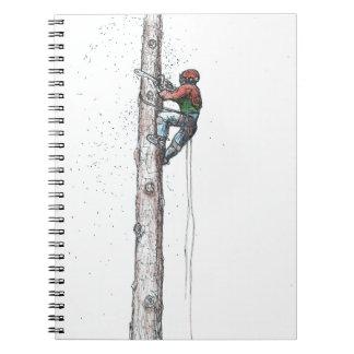 Topping out Arborist Tree Surgeon Stihl Notebooks