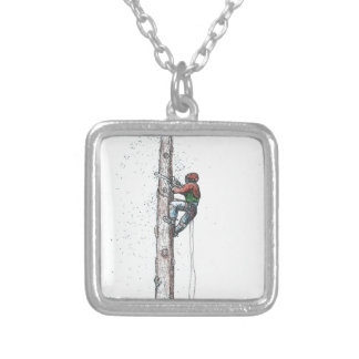 Topping out Arborist Tree Surgeon Stihl Silver Plated Necklace