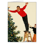 Topping the Tree Greeting Card