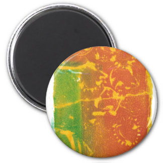 Toppling Flowers 2 Inch Round Magnet