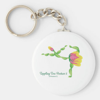 (Toppling Tree Posture I) Basic Button Keychain
