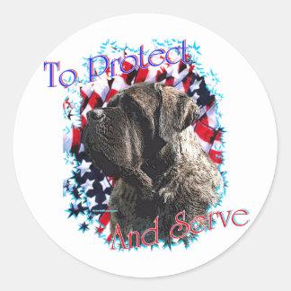 ToProtectandServe Classic Round Sticker
