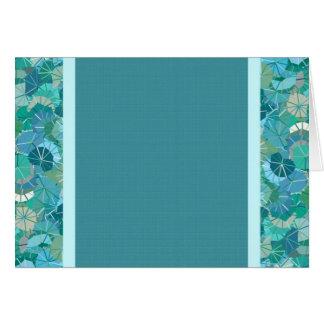 Tops abstractos coloridos brillantes del paraguas tarjeta de felicitación