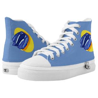 Tops de la chaqueta azul de las chaquetas azules zapatillas