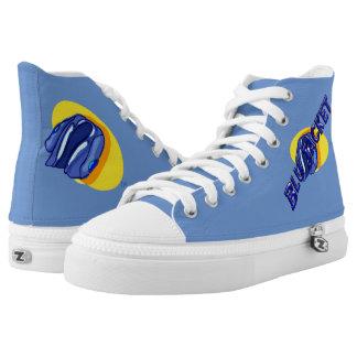 Tops del logotipo de la chaqueta azul hola zapatillas