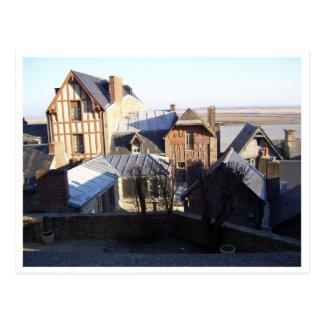 Tops del tejado del Saint Michel de Mont Postales
