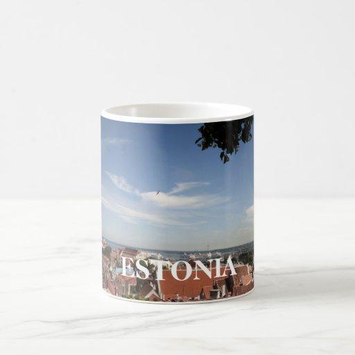 Tops del tejado en Estonia, ESTONIA Taza De Café