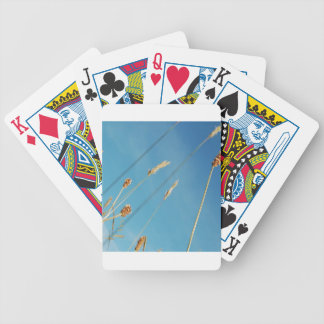 Tops herbosos del campo de la naturaleza baraja cartas de poker