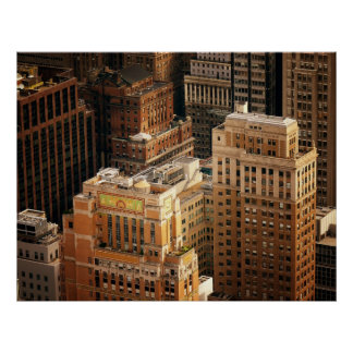 Tops of New York City Skyscrapers, All Sizes Poster