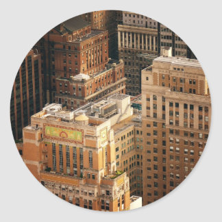 Tops of New York City Skyscrapers Classic Round Sticker